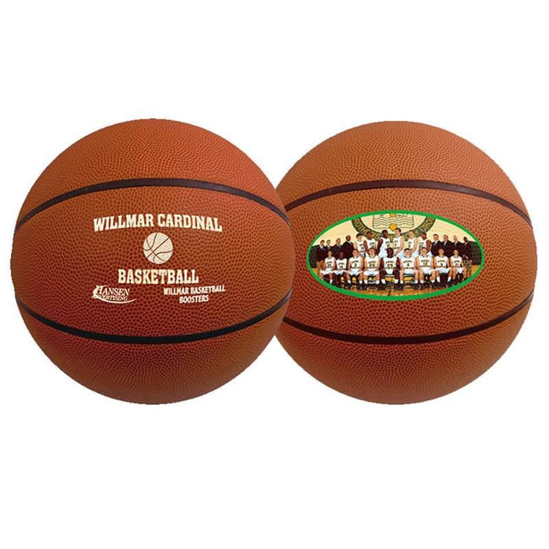 "29 1/2"" Full-Size Synthetic Leather Basketball"