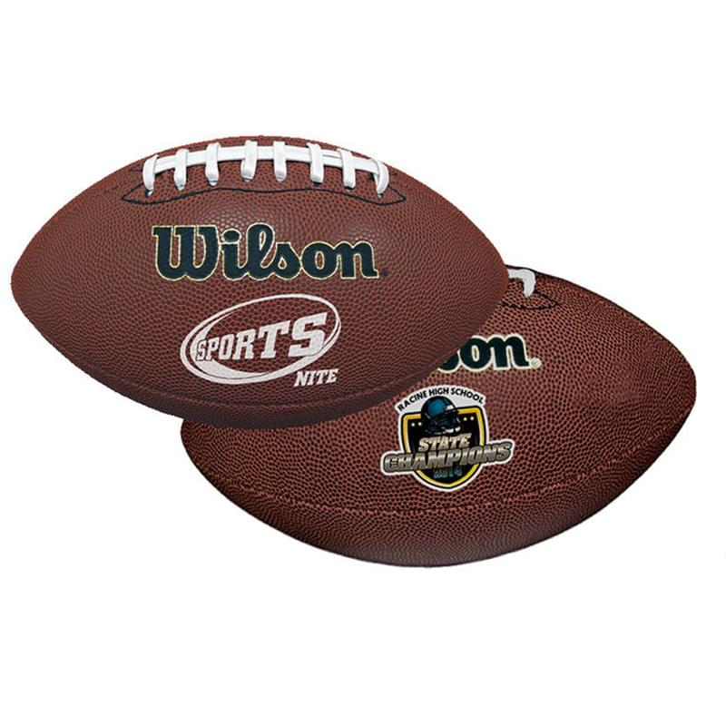 "14"" Wilson Premium Composite Leather Footballs (Full–Size)"