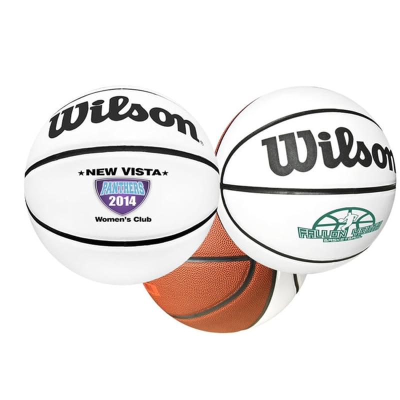 "29 1/2"" Wilson® Full-Size Synthetic Leather Signature Basketball"