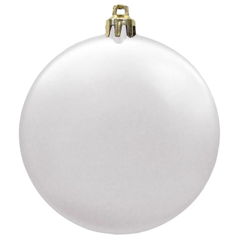 "3"" Satin Finish Flat Shatterproof Ornament"