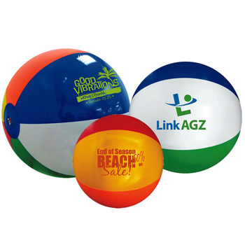 "12"" Multi-Colored Beach Balls"