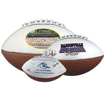 "10"" Mid-Size Synthetic Leather Signature Football"