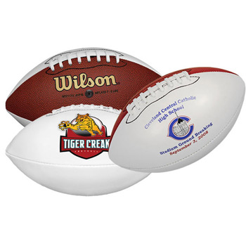"10"" Wilson® Mid-Size Synthetic Leather Signature Football"