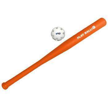 Plastic Bat w/Imprinted Ball