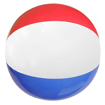"12"" Red White & Blue Beach Ball"