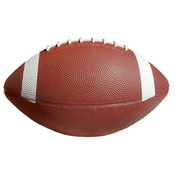 "10 1/2"" Rubber Footballs with White Stripes"