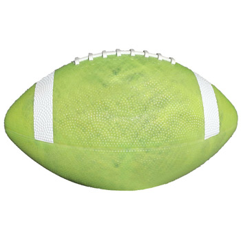 "10 1/2"" Glow Rubber Footballs with White Stripes"